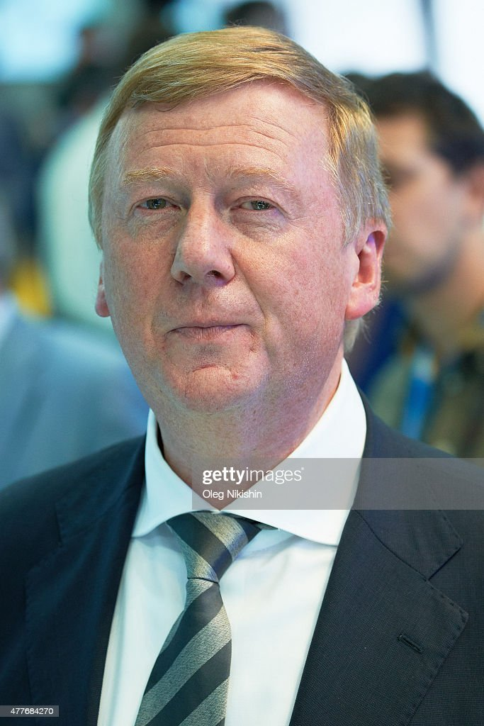 Anatoly Chubais attends a session of the SPIEF2015 Saint Petersburg International Economic Forum on June 18, 2015 in Saint Petersburg, Russia.
