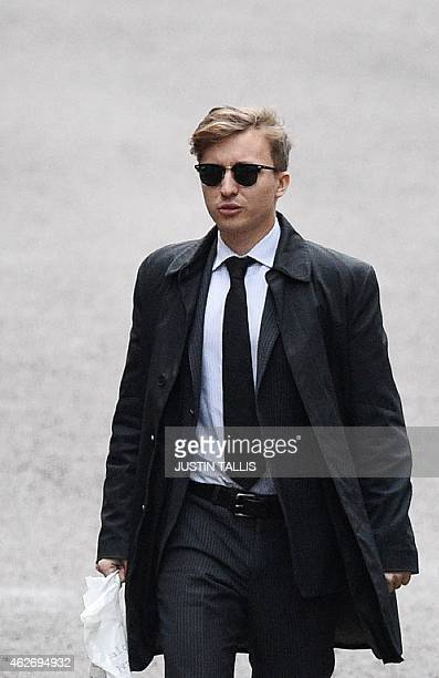 Anatoly Litvinenko son of Russian former spy Alexander Litvinenko arrives at the Royal Courts of Justice in London on February 3 as he prepares to...