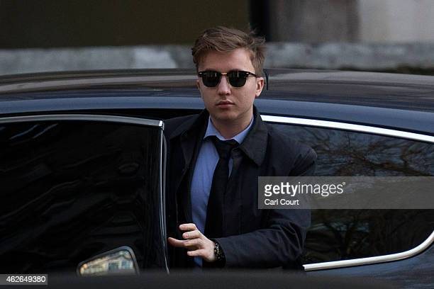 Anatoly Litvinenko the son of former KGB agent Alexander Litvinenko arrives at the High Court during the inquiry into his father's death on February...