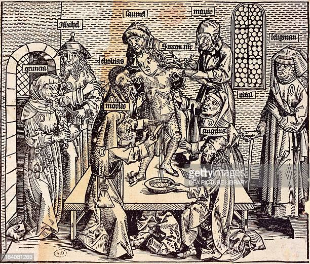 Anatomy Lesson engraving Germany 15th century Paris Bibliothèque Des Arts Decoratifs