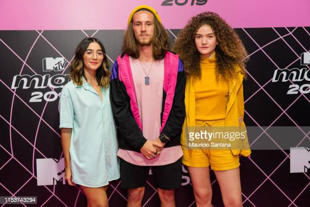 Anavitoria and Vitor Kley attends the MTV MIAW 2019 at Credicard Hall on July 3 2019 in Sao Paulo Brazil