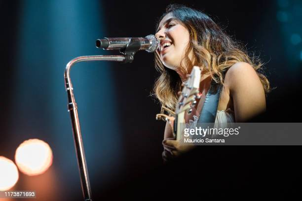 Anavitoria performs live on stage during day 6 of Rock In Rio Music Festival at Cidade do Rock on October 5 2019 in Rio de Janeiro Brazil