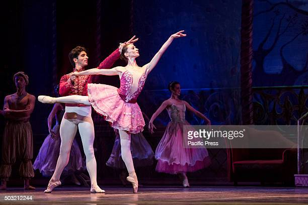 Anbeta Toromani and Alessandro Macario dance in Teatro San Carlo of Naples during a ballet called The Nutcracker with the music of Pëtr Il'i ajkovskij