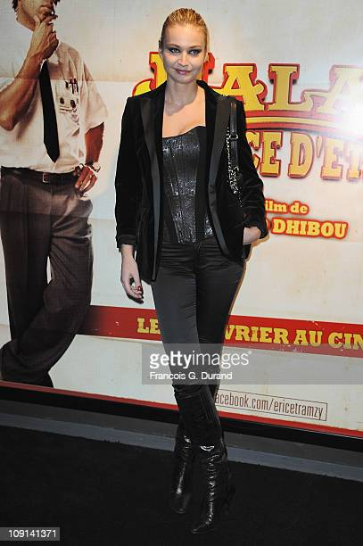 Anca Radici attends the 'Halal Police D'Etat' Paris Premiere at UGC Cine Cite Bercy on February 15 2011 in Paris France