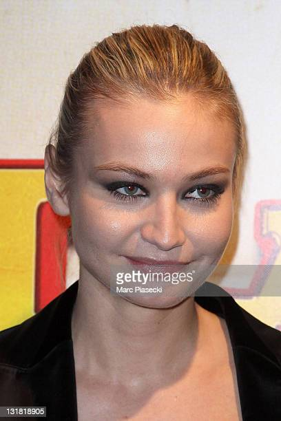 Anca Radici attends the 'Halal Police d'etat' premiere at UGC Cine Cite Bercy on February 15 2011 in Paris France