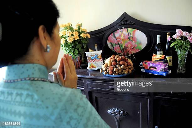 Ancestor worship in a Hanoi home