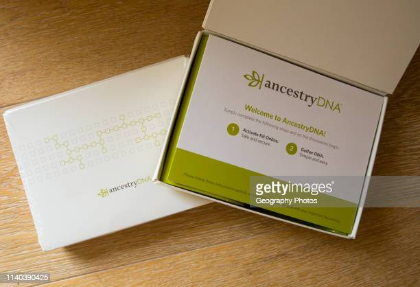 Ancestry DNA test kit.