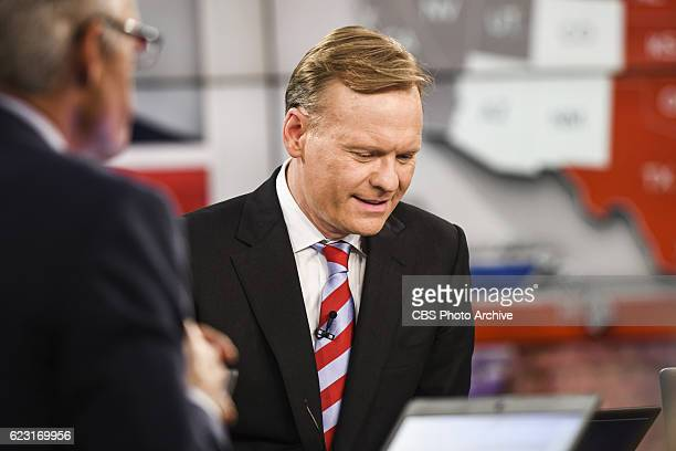Anchor and CBS News Political Director John Dickerson anchors CBS News' Campaign 2016 Election Night coverage on Nov 8 at the CBS Broadcast Center in...