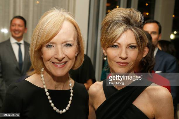 Anchor and Managing Editor of PBS Newshour Judy Woodruff and ELLE EditorinChief Robbie Myers attend ELLE and Bottega Veneta Women in Washington...
