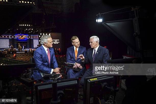 Anchor and Managing Editor Scott Pelley and FACE THE NATION Anchor and CBS News Political Director John Dickerson interview Gov. Mike Pence during...