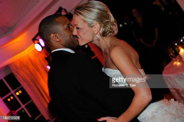 MSNBC anchor and NBC News correspondent Craig Melvin and ESPN sports anchor Lindsay Czarniak have their first dance after their wedding on October 15...