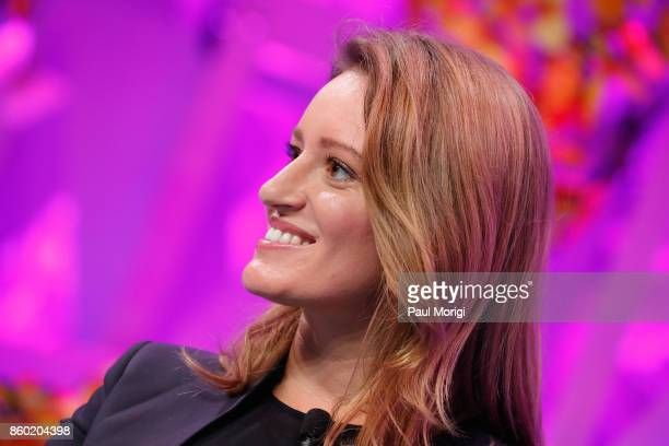 Anchor and NBC News Correspondent Katy Tur speaks onstage at the Fortune Most Powerful Women Summit Day 3 on October 11 2017 in Washington DC