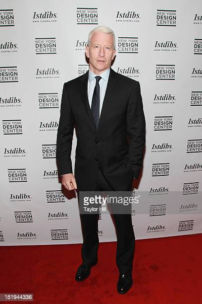 Anchor Anderson Cooper attends The World of Gloria Vanderbilt Collages Dream Boxes and Recent Paintings Preview Party Gala Benefit to benefit the...