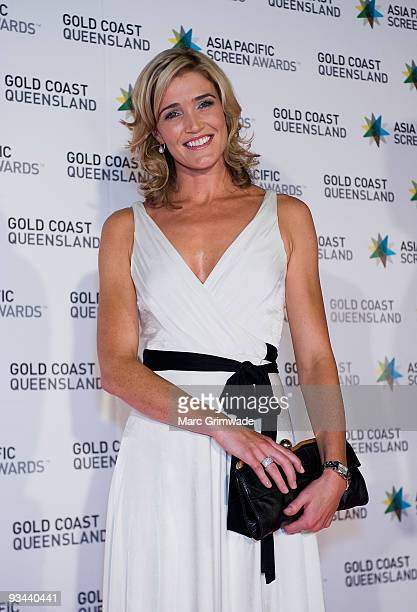 CNN anchor Anna Coren arrives at the Asia Pacific Film Awards 2009 at the Gold Coast Convention and Exhibition Centre on November 26 2009 in Gold...