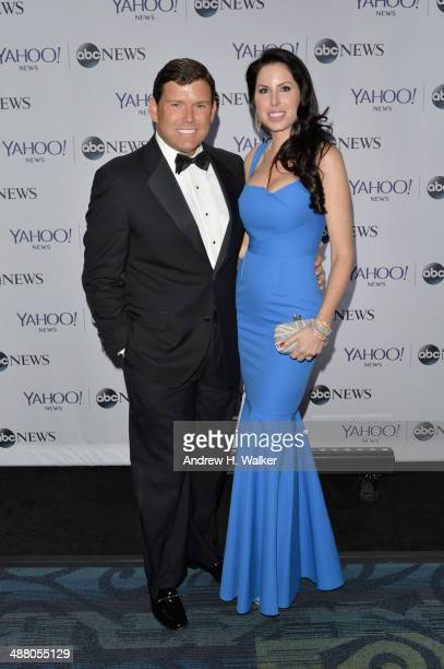 Anchor Bret Baier and Amy Baier attend the Yahoo News/ABCNews PreWhite House Correspondents' dinner reception preparty at Washington Hilton on May 3...