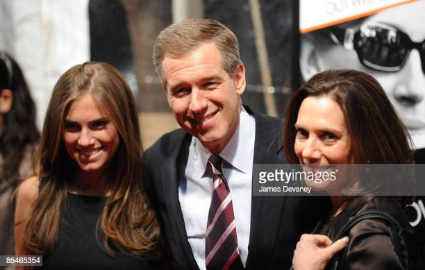 Anchor Brian Williams Jane Stoddard Williams and Allison Williams attend the premiere of Duplicity at the Ziegfeld Theater on March 16 2009 in New...