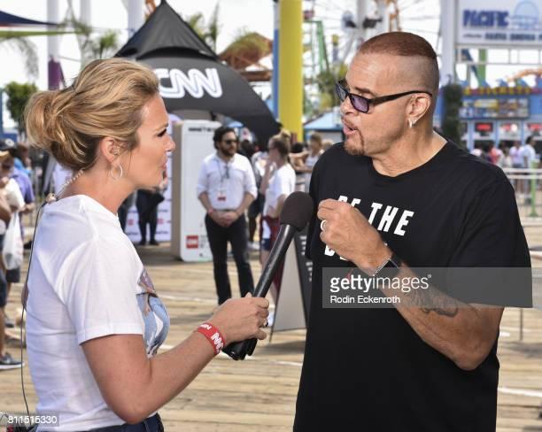CNN anchor Brooke Baldwin interviews comedian Sinbad at The Nineties at the Pier presented by CNN at Santa Monica Pier on July 9 2017 in Santa Monica...