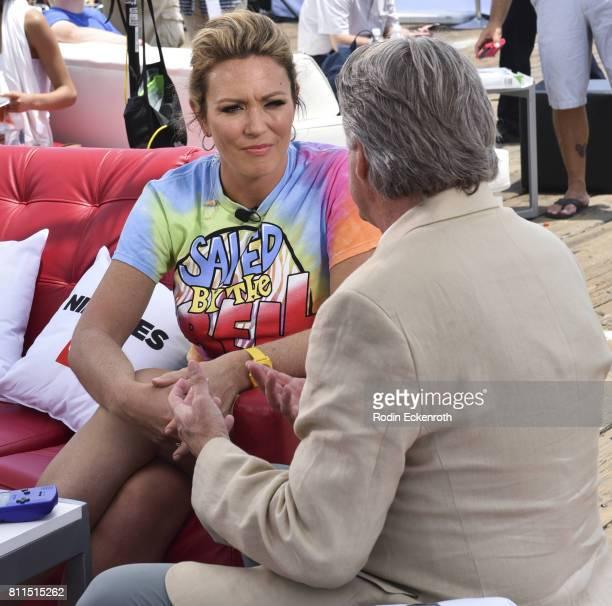 CNN anchor Brooke Baldwin interviews producer Mark Herzog at The Nineties at the Pier presented by CNN at Santa Monica Pier on July 9 2017 in Santa...