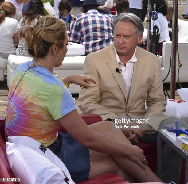 CNN anchor Brooke Baldwin interviews producer Mark Herzog at The Nineties at the Pier presented by CNN at Santa Monica Pier on July 9 2017 in Santa...