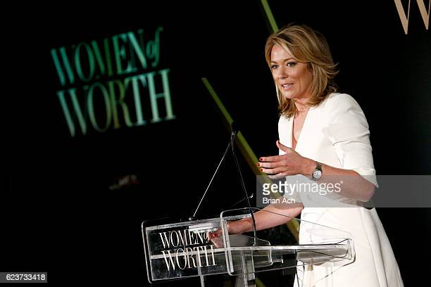 Anchor Brooke Baldwin speaks onstage at the L'Oreal Paris Women of Worth Celebration 2016 Arrivals on November 16 2016 in New York City
