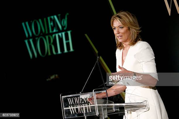 Anchor Brooke Baldwin speaks onstage at the L'Oreal Paris Women of Worth Celebration 2016 Arrivals on November 16, 2016 in New York City.