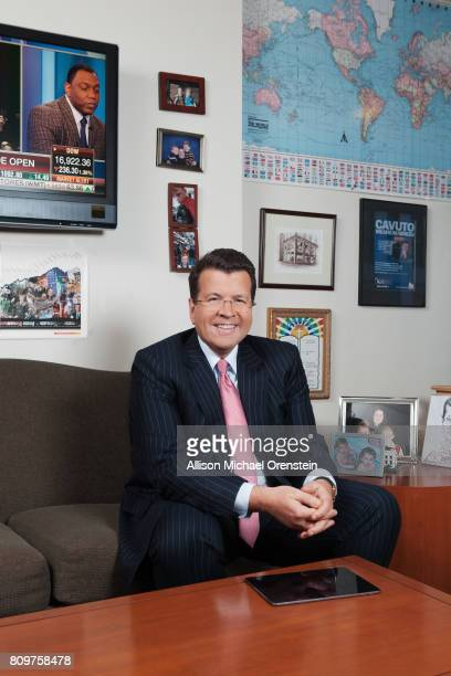 Anchor commentator and business journalist for Fox Broadcasting Neil Cavuto is photographed for The Hollywood Reporter on January 6 2016 in his...