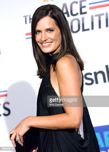 Anchor Contessa Brewer attends MSNBC's Radio and Television Correspondents Dinner after party at the Historical Society of Washington DC on June 19...