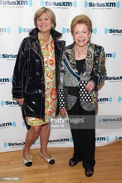 Anchor Cynthia McFadden and bestselling author Mary Higgins Clark visit SiriusXM Studios on May 16 2012 in New York City