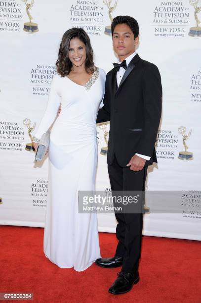 TV anchor Darlene Rodriguez and David Jake Rodriguez attend the 60th Anniversary New York Emmy Awards Gala at Marriott Marquis Times Square on May 6...