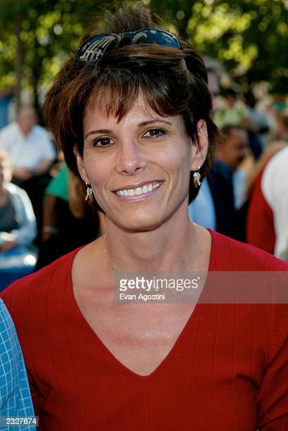 CNN anchor Daryn Kagan at CBS Sports' The NFL On CBS Fall Season media day event at the CBS outdoor studio at 59th St and Fifth Ave in New York City...