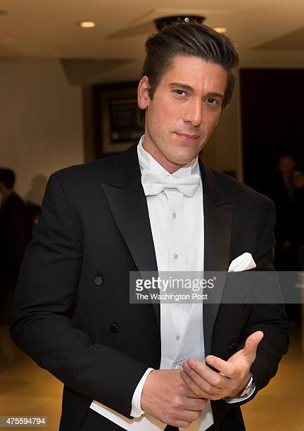 Anchor David Muir arrives at the Gridiron Club Dinner at the Renaissance Hotel in Washington DC on March 14 2015 The annual dinner is a massive...