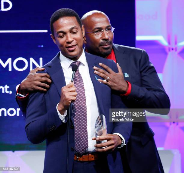 CNN anchor Don Lemon and CNN political commentator Van Jones on stage at the 2017 GLAAD Gala at City View at Metreon on September 9 2017 in San...