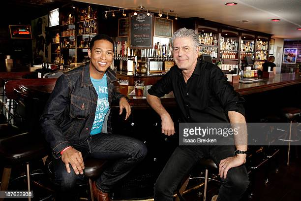 Anchor Don Lemon and TV personality Anthony Bourdain attend 'Parts Unknown Last Bite' Live CNN Talk Show hosted by Anthony Bourdain at Atomic Liquors...