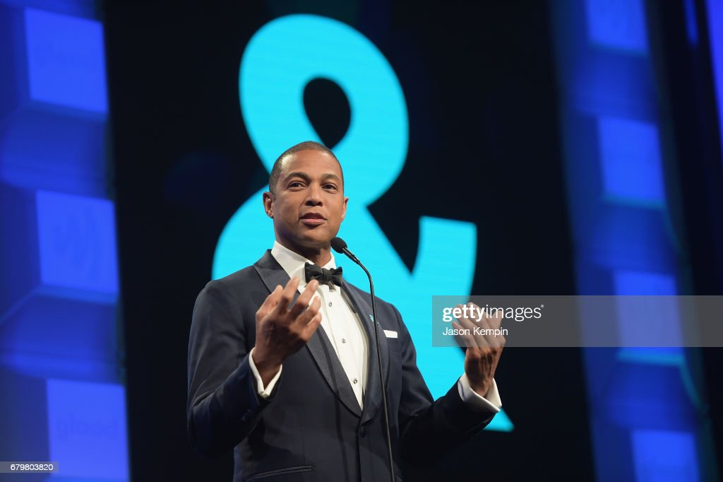 CNN anchor Don Lemon speaks on stage at the 28th Annual GLAAD Media Awards at The Hilton Midtown on May 6, 2017 in New York City.