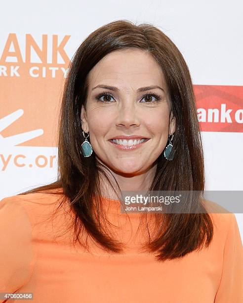 Anchor Erica Hill attends 2015 Can Do Awards at Cipriani Wall Street on April 21 2015 in New York City