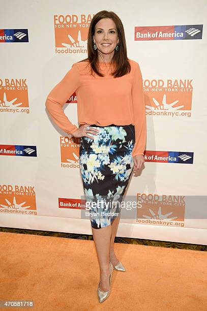 Anchor Erica Hill attends the Food Bank For New York City Can Do Awards Dinner Gala at Cipriani Wall Street on April 21 2015 in New York City