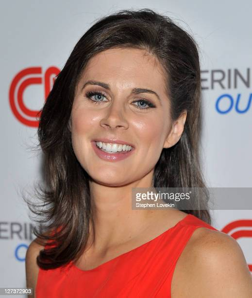 """Anchor Erin Burnett attends the launch party for CNN's """"Erin Burnett OutFront"""" at Robert atop the Museum of Arts and Design on September 27, 2011 in..."""
