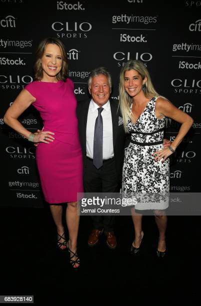 Anchor ESPN's SportsCenter Face to Face Clio Sports Host Hannah Storm Stuart Scott Lifetime Athievement Award Honoree Mario Andretti and President...
