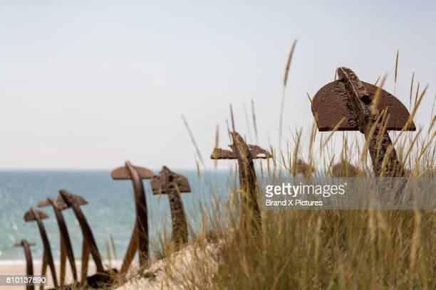 Anchor Graveyard near Tavira in the Algarve