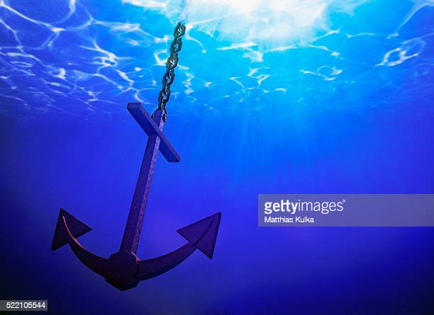Anchor in Clear Blue Sea