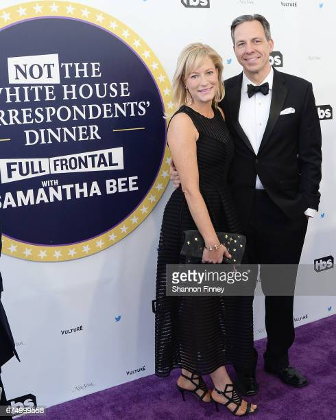 CNN anchor Jake Tapper and his wife Jennifer Marie Brown' attend the Not the White House Correspondents' Dinner at DAR Constitution Hall on April 29...