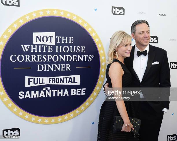 CNN anchor Jake Tapper and his wife Jennifer Marie Brown' attend the 'Not the White House Correspondents' Dinner' at DAR Constitution Hall on April...
