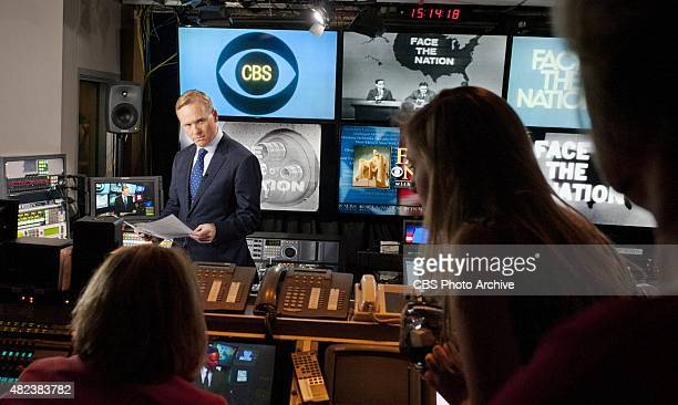 NATION anchor John Dickerson prepares segments for the broadcast's online site leading up to his inaugural broadcast at the helm of the longrunning...