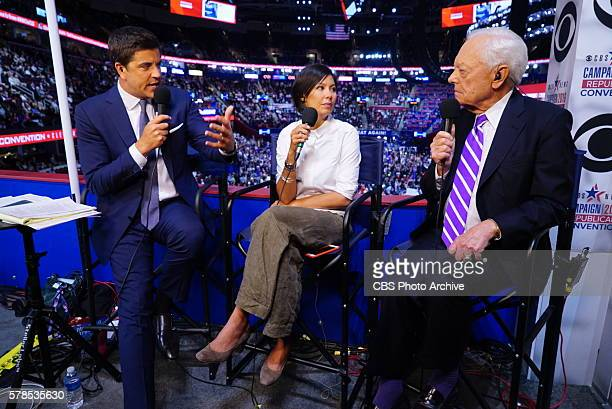Anchor Josh Elliott Alex Wagner of The Atlantic and CBS News Contributor Bob Schieffer on CBSN's live streaming coverage of the 2016 Republican...