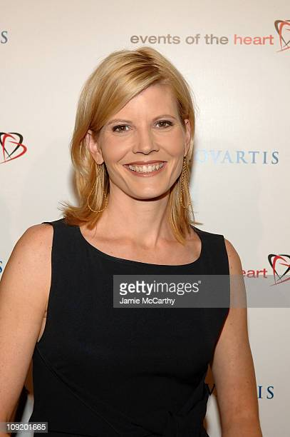 TV anchor Kate Snow arrives to the Events of The Heart 1st Annual Benefit Gala Heart On at Jazz at Lincoln Center on October 1 2007 in New York City