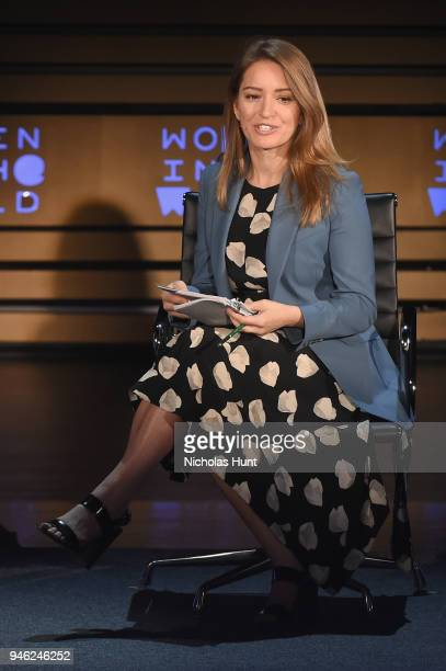 Anchor Katy Tur speaks onstage at the 2018 Women In The World Summit at Lincoln Center on April 14 2018 in New York City
