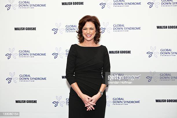CNN anchor Kyra Phillips arrives at the inaugural Global Down Syndrome Foundation's Be Beautiful Be Yourself Gala on November 16 2011 in Washington DC