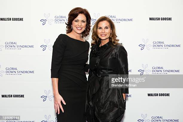 CNN anchor Kyra Phillips poses for a photo with Lynda Erkiletian of THE Artist Agency and the Real Housewives of DC at the inaugural Global Down...