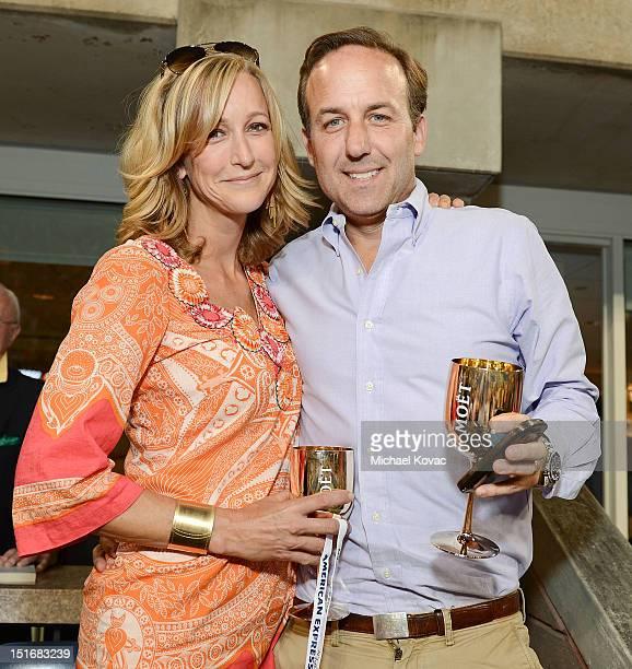 TV anchor Lara Spencer and husband David Haffenreffer visit the Moet Chandon Suite at the 2012 US Open at the USTA Billie Jean King National Tennis...