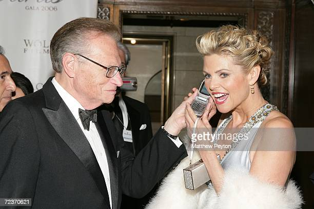 Anchor Larry King and model Christie Brinkley attend the 2006 Princess Grace FoundationUSA Awards Gala at Cipriani 42nd Street November 2 2006 in New...